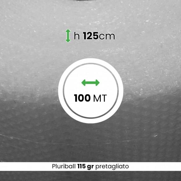 Bobina Pluriball pesante pretagliato altezza 125 cm lunghezza 100 mt