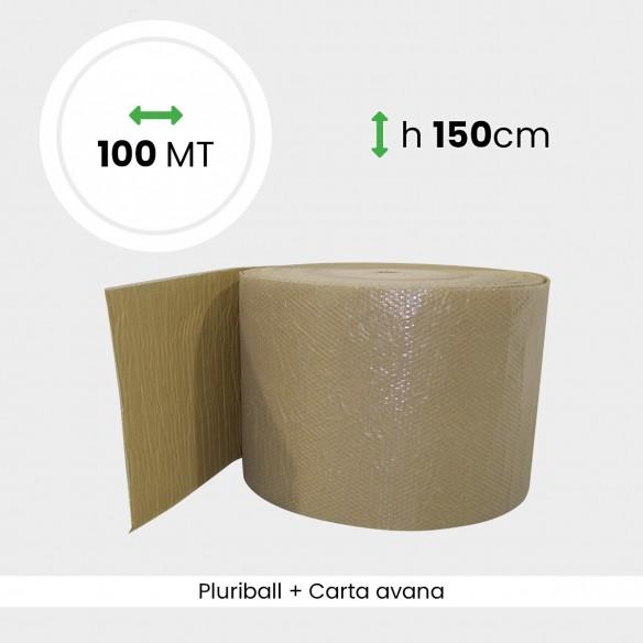 Bobina Pluriball accoppiato con carta avana altezza 150 cm lunghezza 100 mt