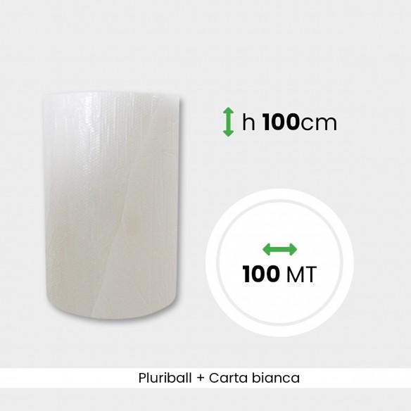 Bobina Pluriball con carta bianca altezza 100 cm lunghezza 100 mt