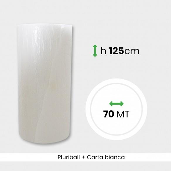 Bobina Pluriball con carta bianca altezza 125 cm lunghezza 70 mt