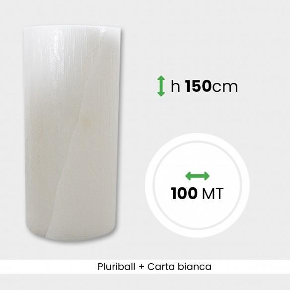 Bobina Pluriball con carta bianca altezza 150 cm lunghezza 100 mt