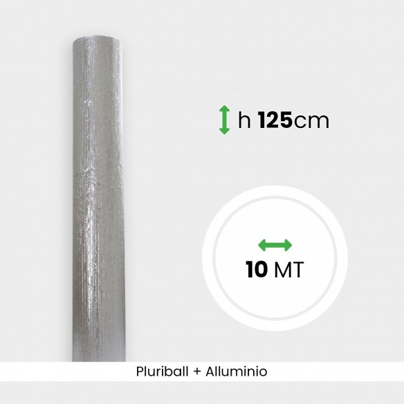 Rotolo Pluriball con alluminio altezza 125 cm lunghezza 10 mt