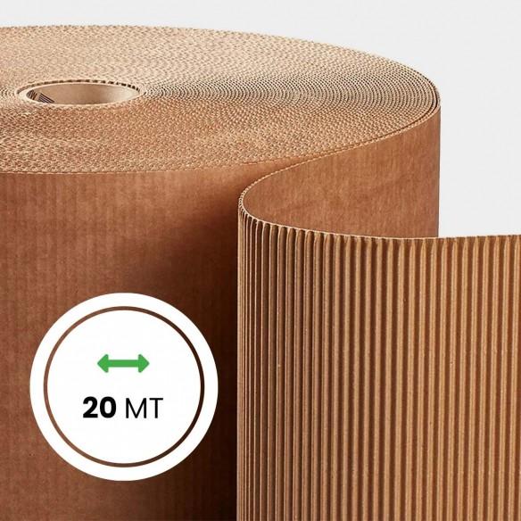 Rotolo Cartone ondulato altezza 100 cm lunghezza 20 metri