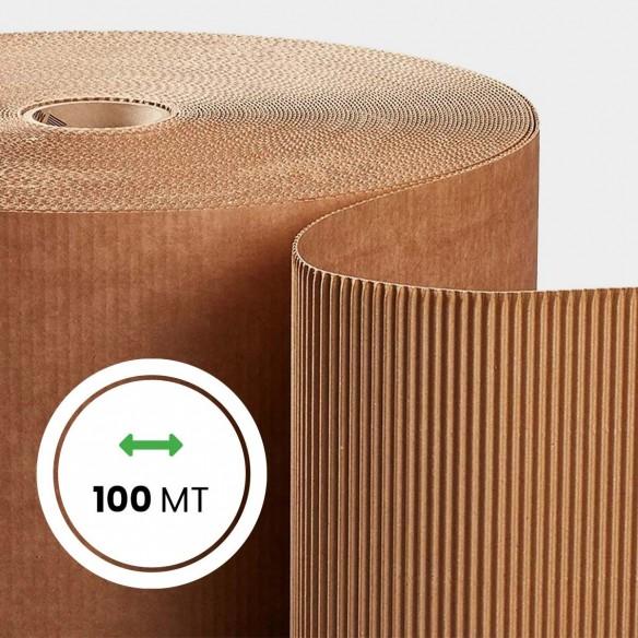 Rotolo Cartone ondulato altezza 100 cm lunghezza 100 metri
