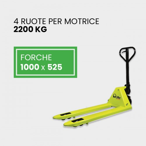 Transpallet Manuale 1000 x 525 4 Ruote