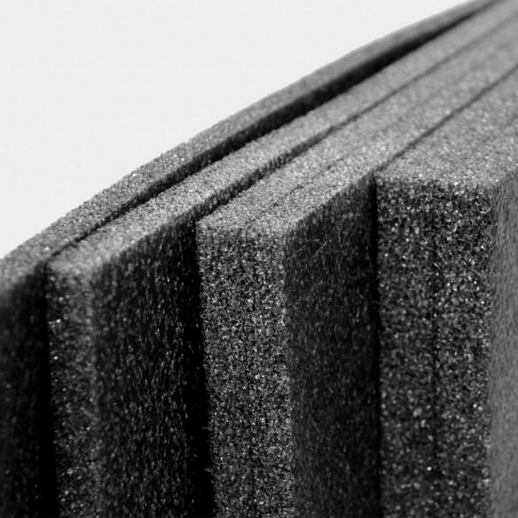 Pannello Espanso di polietilene Nero altezza 120 lunghezza 200 cm spessore 10 mm