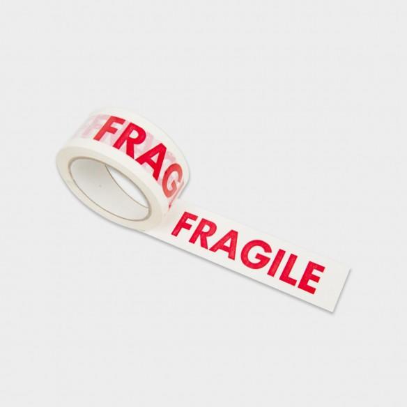 """Nastro adesivo con scritta """"FRAGILE"""" altezza 50 mm lunghezza 132 mt"""