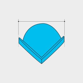 Angolare protettivo Espanso diametro 100 mm