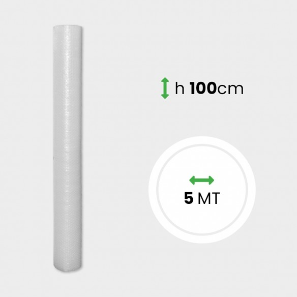 Pluriball Miniroll 35 gr H 100 cm lunghezza 5 mt