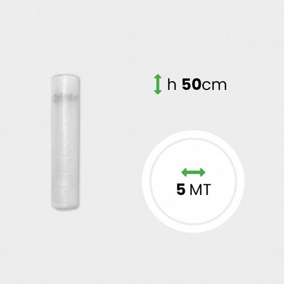 Miniroll di pluriball 35 gr + HD alto 50 cm lungo 5 metri.