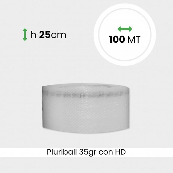 bobina di pluriball economico rinforzato con HD altezza 25cm lunghezza 100m