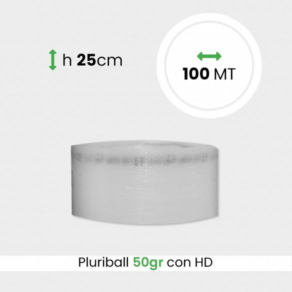 bobina di pluriball leggero rinforzato con HD altezza 25cm lunghezza 100m