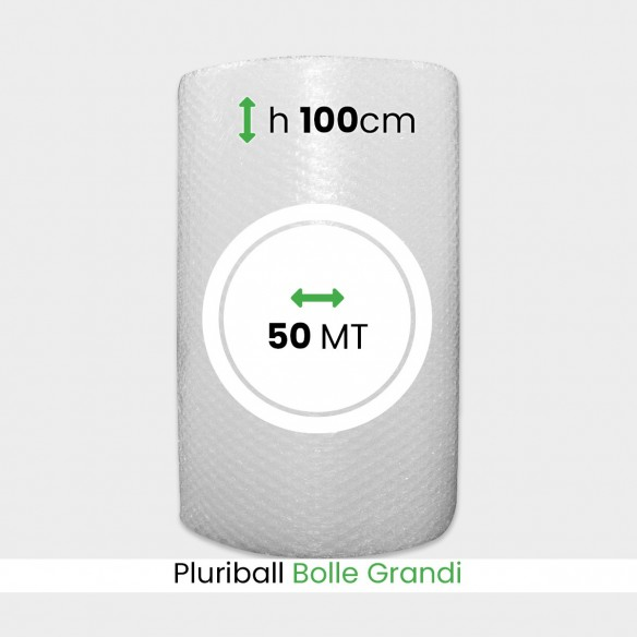 Bobina Pluriball bolle grandi altezza 100 cm lunghezza 50 mt