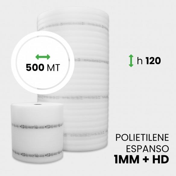 Bobina Polietilene Espanso + HD altezza 120 cm lunghezza 500 metri