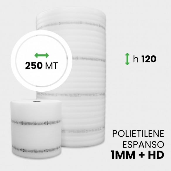 Rotolo Polietilene Espanso + HD  altezza 120 cm lunghezza 250 metri