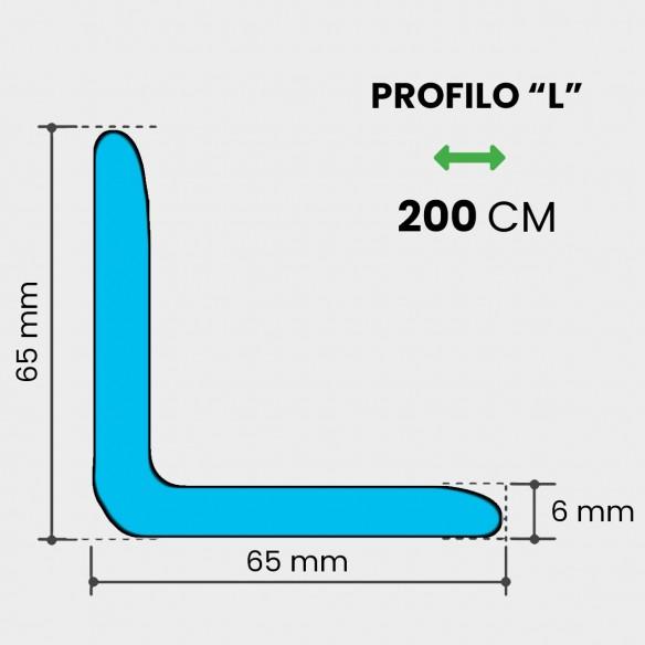 Profili a L Polietilene Espanso 65x65 mm lunghezza 200mt