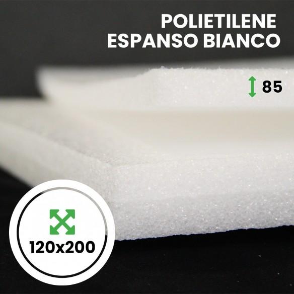 Pannello Espanso di polietilene Bianco altezza 120 lunghezza 200 cm spessore 85 mm