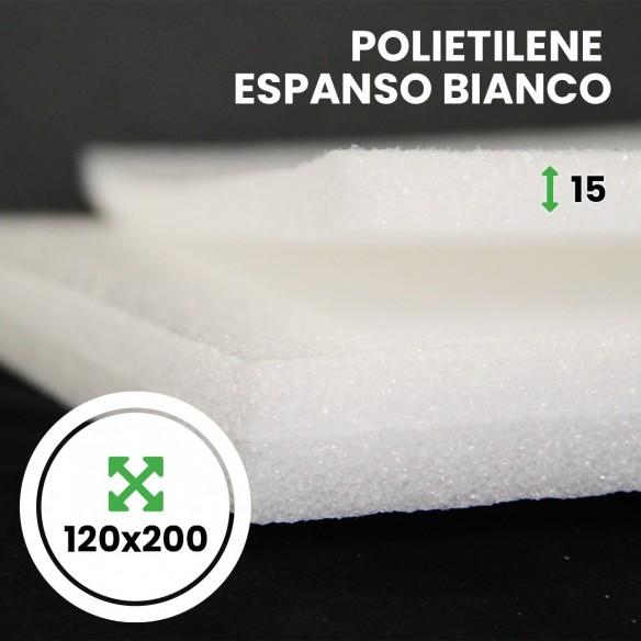 Pannello Espanso di polietilene Bianco altezza 120 lunghezza 200 cm spessore 15 mm