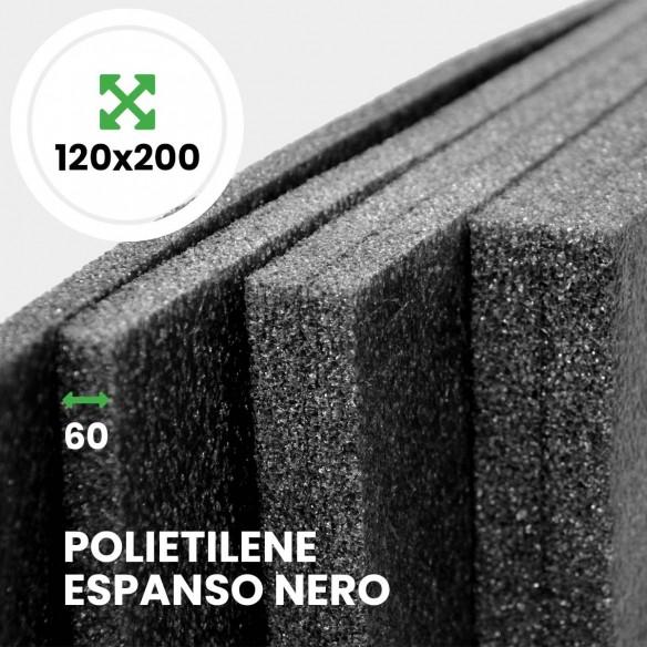 Pannello Espanso di polietilene Nero altezza 120 lunghezza 200 cm spessore 60 mm