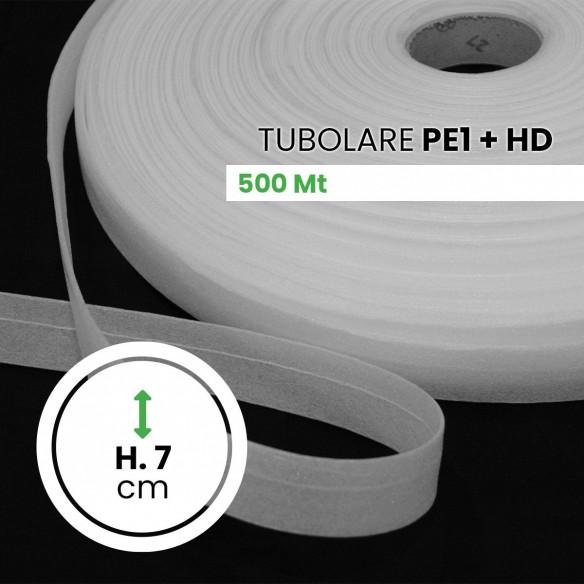 Bobina polietilene Espanso Tubolare + HD altezza 7 cm lunghezza 500 mt
